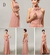 wholesale cheap custom made mix style long split bridesmaid