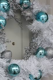 Blue White And Silver Christmas Tree - teal and white christmas wreath u003ewhat about green teal u0026 bronze