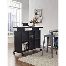 Standing Desk With Drawers by Dorel Lincoln Espresso Multipurpose Standing Desk