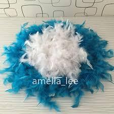 turkey feather boa lot2yards pcs turquoise feather boas chandelle feather boas