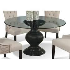round table orland ca serena round glass dining table with pedestal base by cmi hudson s