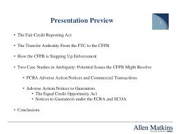 consumer financial protection bureau the fcra ecoa and the consumer financial protection bureau