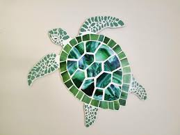 octopus and sea turtle coastal mosaics stained glass mosaic