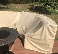 Covers For Patio Furniture by Patio Sectional Cover Curved Outdoor Sofa Cover