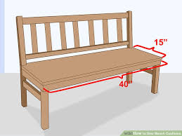 how to sew bench cushions with pictures wikihow