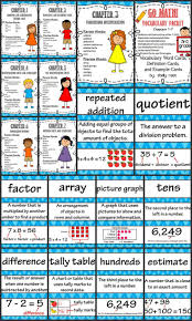 go math 3rd grade vocabulary chapters 1 7 vocabulary words