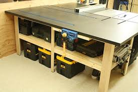 outfeed table for delta unisaw woodshop pinterest