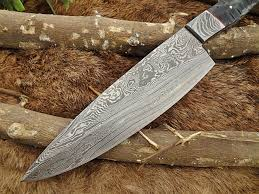 custom made kitchen knives 10 75 inch black jigged bull horn sturl scale chef knife with