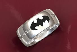 batman wedding band crafted batman wedding ring by valeria