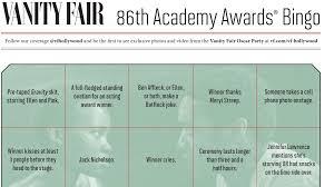 Vanity Fair Phone Number 2014 Oscars Bingo Cards Vanity Fair