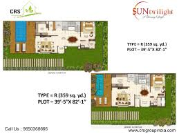Twilight House Floor Plan Sun Twilight Luxury Villas Greater Noida