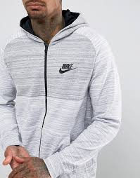 auction men clothes nike advanced knit zip hoodie in grey 883025