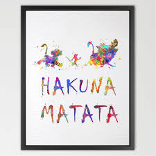 amazon com dignovel studios 11x14 hakuna matata the lion king