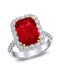 ruby and engagement rings 34 royal ruby engagement rings martha stewart weddings
