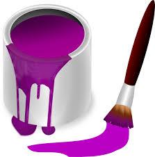 purple paint purple paint with paint brush clip art at clker com vector clip