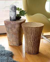 Ceramic Side Table Stump And Woven Tables By Larry Halvorsen Ceramic Side Table