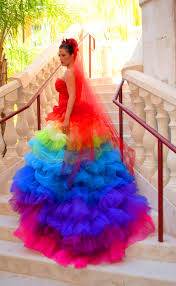 multi color wedding dress cool colorful strapless wedding dress wedding dress with wedding