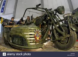 of german customs crew harzer bike schmiede are pictured on