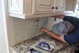 how to install a glass tile backsplash in the kitchen installing a glass tile backsplash new install with regard to design