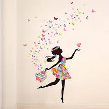 butterfly dancing girl removable wall sticker vinyl home decor butterfly dancing girl removable wall sticker vinyl home decor removable pink wall sticker pvc vinyl room decal deco stickers for walls deco wall sticker