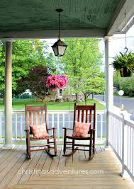 Rocking Chairs On Porch Front Porch Decorating Christinas Adventures
