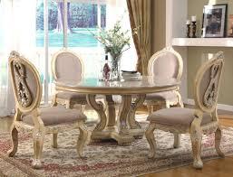 white dining room sets creditrestore pertaining to round white