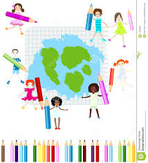 happy kids drawing royalty free stock photo image 17468035