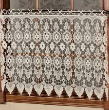 Lace Cafe Curtains Macrame Lace Cafe Curtains Home Design Ideas