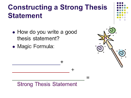 write a good thesis statement thesis statements definition of a thesis statement ppt video