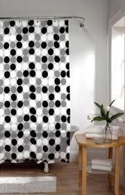 Black Grey And White Shower Curtain Black Vinyl Shower Curtain Foter