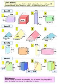 geometry volume of prisms levelled worksheet by ajf43 teaching