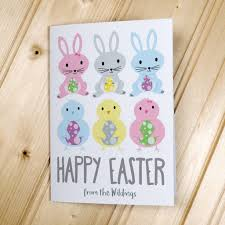 happy easter cards personalised happy easter cards postcards by able labels