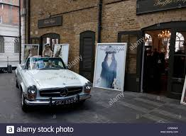 mercedes shop uk 1960 s mercedes sl used as a prop outside the traffic