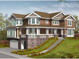 home plans for sloping lots medway tudor home plan 071d 0166 house plans and more