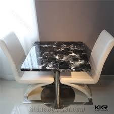 Corian Dining Tables Popular Artificial Stone Corian Table Tops Design Solid Surface