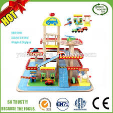 2017 diy kids wooden parking garage toy best car parking garage