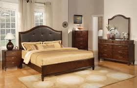 photos tufted leather headboard cherry solid wood bedroom set