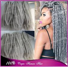 gray marley braid hair stock cheap price 20 folded long grey marley braid synthetic hair