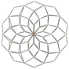 Uttermost Decor Uttermost Dorrin Geometric Floral Art Contemporary Metal Wall