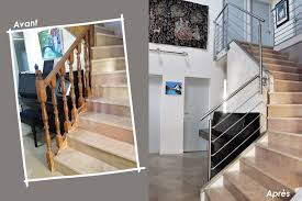 rambarde escalier design garde corps escalier design et verrière sur mesure en normandie