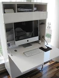 Smallest Computer Desk Look Kara U0027s Stylish Mini Office Mini Office Apartment Therapy