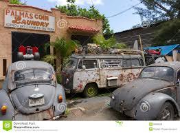 car yard junkyard junk yard with old volkswagen cars editorial stock photo image