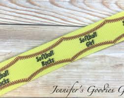 softball ribbon by the yard 3 softball ribbon glitter ribbon glitter