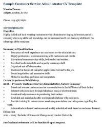 Samples Resumes For Customer Service by Resume Sample For Customer Service Administrator Resume Ixiplay