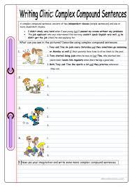 10 free esl complex sentence worksheets