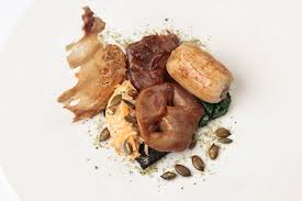 Delicious Main Course With Braised Pork Cheeks Pickled Braising And Slow Cooking Recipes Great British Chefs