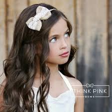 bow headband letters burlap bow headband think pink bows