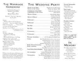 Examples Of Wedding Reception Programs Wording For Wedding Programs Samples Finding Wedding Ideas