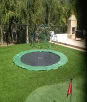 in ground trampolines yard illumination