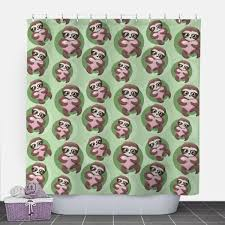 Pink Green Shower Curtain Shower Curtains At Speckle Rock